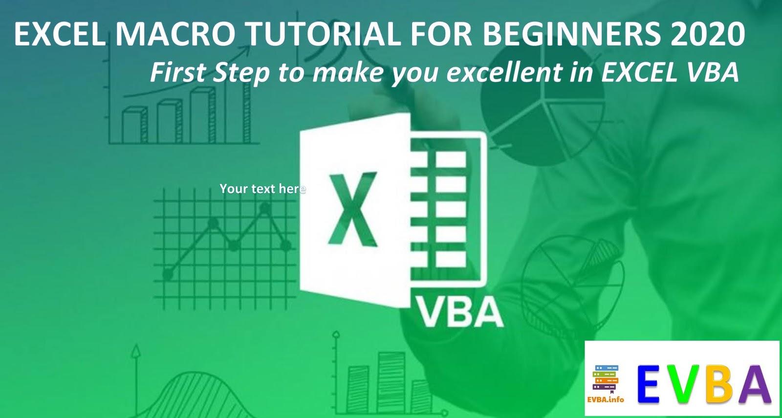 Free Ebook Excel Macro Tutorial For Beginners