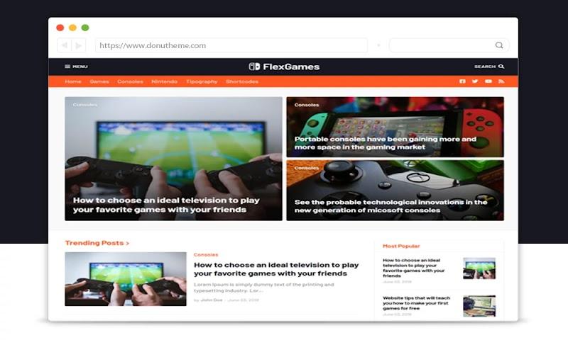 Flex Games Responsive Blogger Template - Responsive Blogger Template