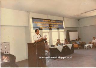 Jancy Raib pada acara Penutupan Penataran/Pelatihan Bendaharawan di Kompleks PAM