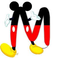 Original alfabeto inspirado en Mickey Mouse M.