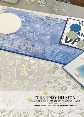 Stampin' Up! Dance Scrapbook Page Close Up
