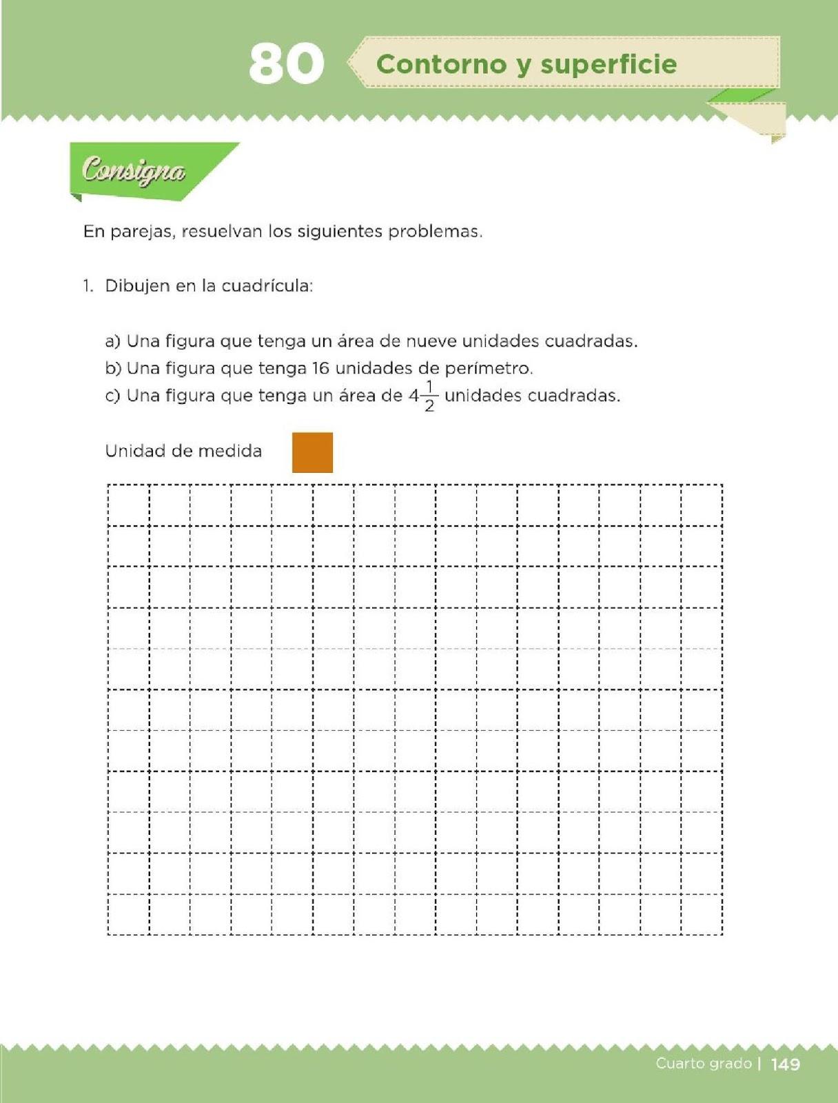 Contorno y superficie - Bloque IV - Lección 80 ~ Apoyo