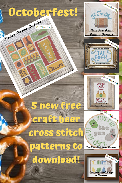 Octoberfest Coming Next Week with Five Free Craft Beer Cross Stitch Patterns to Download