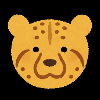 チーターの顔のイラスト