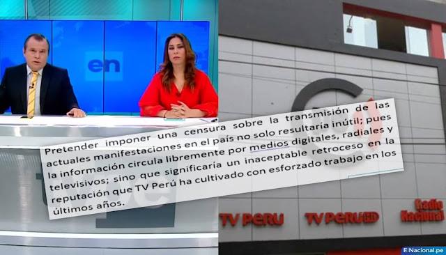 TV Perú denuncia censura