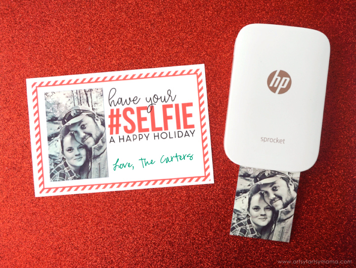Free Printable Holiday Selfie Card