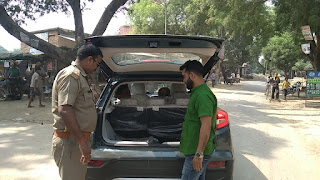 मल्हनी उपचुनाव : वाहनों की सघन चेकिंग कर रही पुलिस | #NayaSaberaNetwork