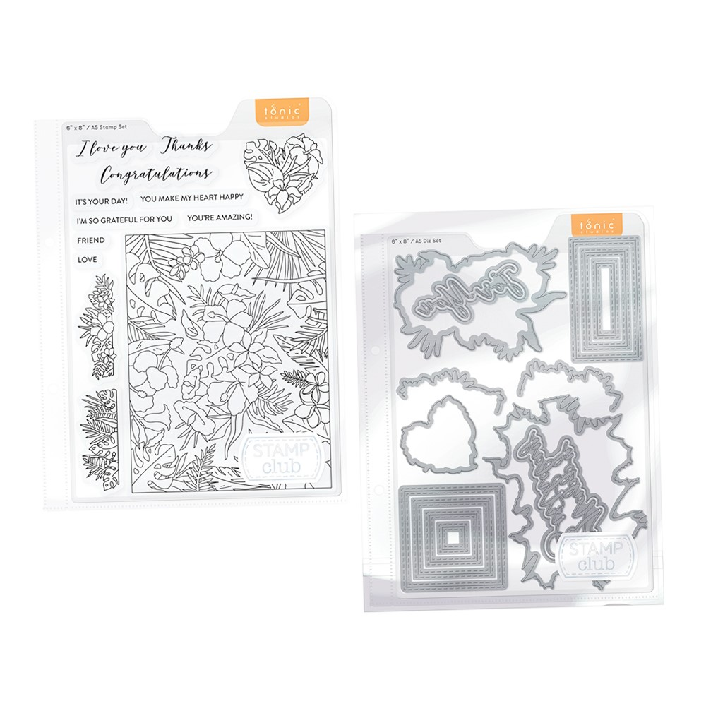 Tonic Studios Stamp Club Happy Hibiscus Bundle