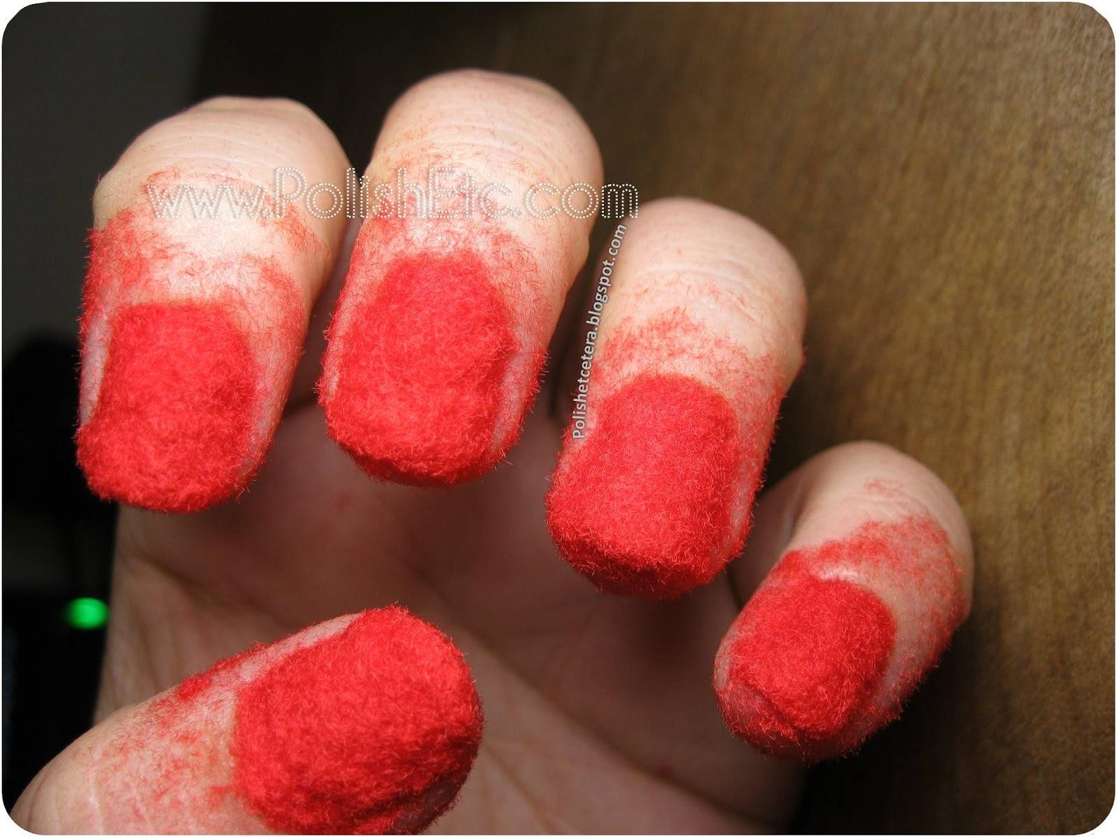 Fuzzy Red Sweater Nails! - Polish Etc.