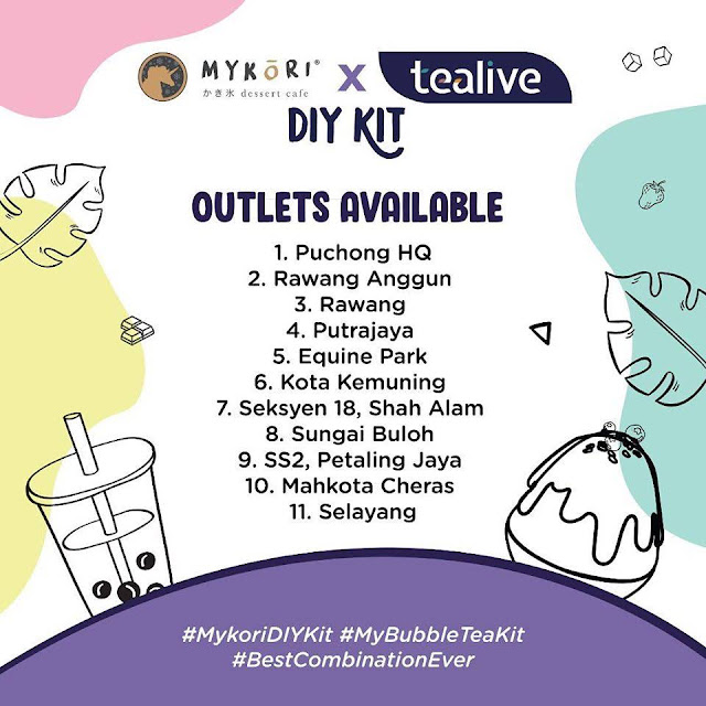 Mykori X Tealive DIY Kit locations