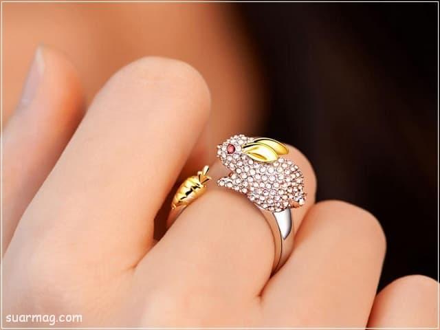 خواتم ذهب رقيقه جدا 9 | Simple gold rings 9