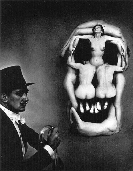 In Voluptas Mors (1951) Halsman and Dali, metamorphic art