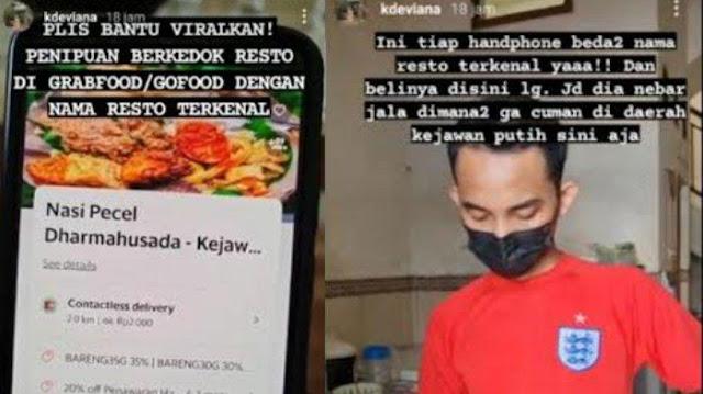 Viral Penipuan Resto Online di Aplikasi Pesan Makanan, Catut Nama Bebek Purnama-Nasi Padang Ampera