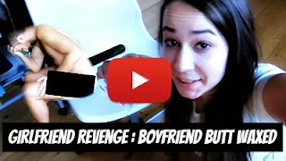 Watch how angry girlfriend got her revenge on her naked boyfriend's birthday with glued wax papers to the chair to butt wax her boyfriend via geniushowto.blogspot.com funny prank videos