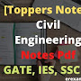 [Toppers Notes] Civil Engineering Notes Pdf For GATE, IES, SSC JE