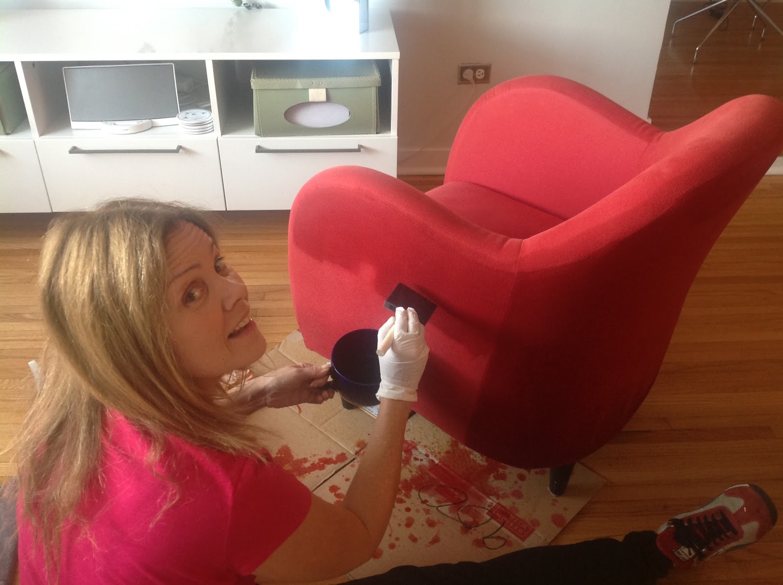 Paint Dye On Chair
