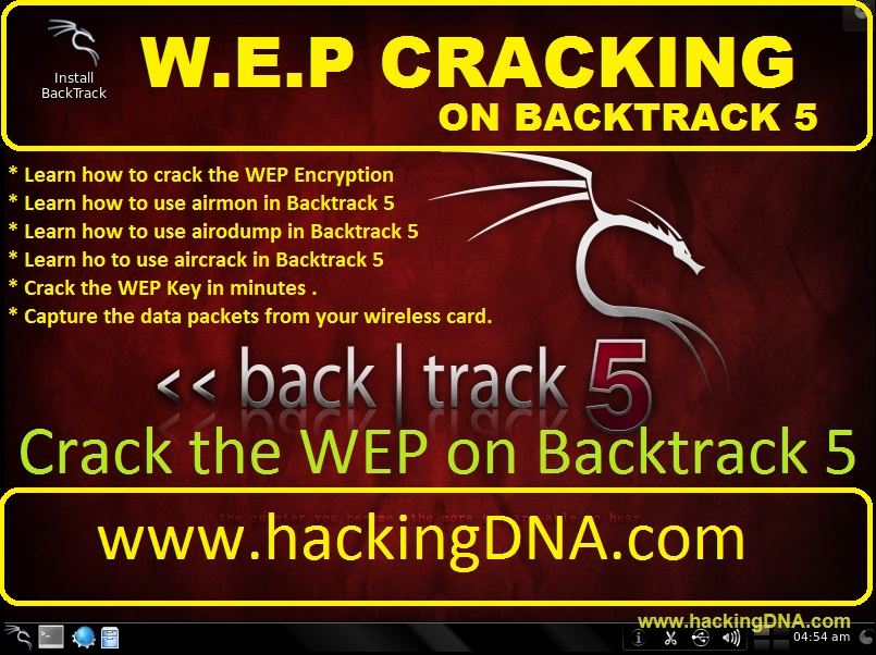HackingDNA: WEP CRACKING ON BACKTRACK 5