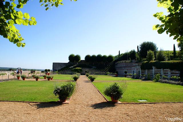 I giardini sulla terrazza del Palazzo Reale