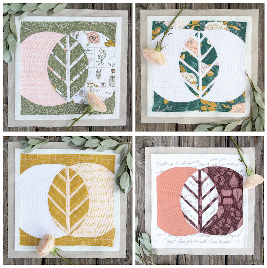 Leaf Quilt Blocks designed by Bonnie Christine of Art Gallery Fabrics, Featuring Gathered Collection