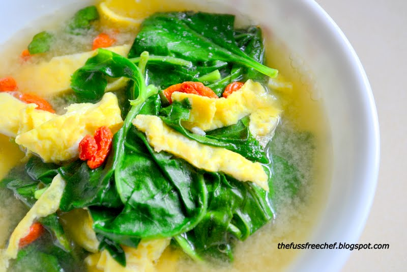 The Fuss Free Chef Quick N Easy Goji Leaves Soup