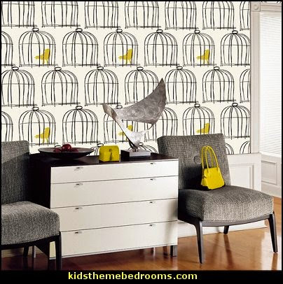 birdcage bedroom ideas - decorating with birdcages - bird cage theme bedroom decorating ideas - bird themed bedroom design ideas - bird theme decor - bird theme bedding - bird bedroom decor