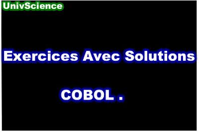 Exercices Avec Solutions COBOL PDF.