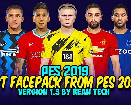 PES 2018 & PES 2019 RT Facepack From PES 2021 V1.3