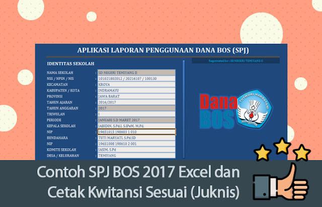 Contoh SPJ BOS 2017 Excel