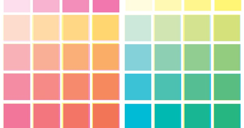 ben day dots template - anthony woodward comix colour chart
