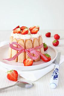 Charlotte Russe met aardbeien