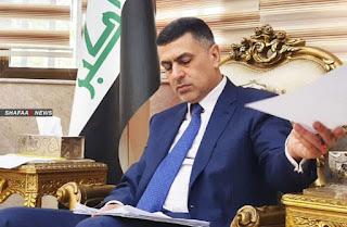 رئيس اللجنة الامنية العليا في البصرة يوجه  القوات الامنية بالقاء القبض على من قام بكتابة عبارة غلق احدى المدارس