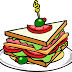 Sandwich de pollo marinado