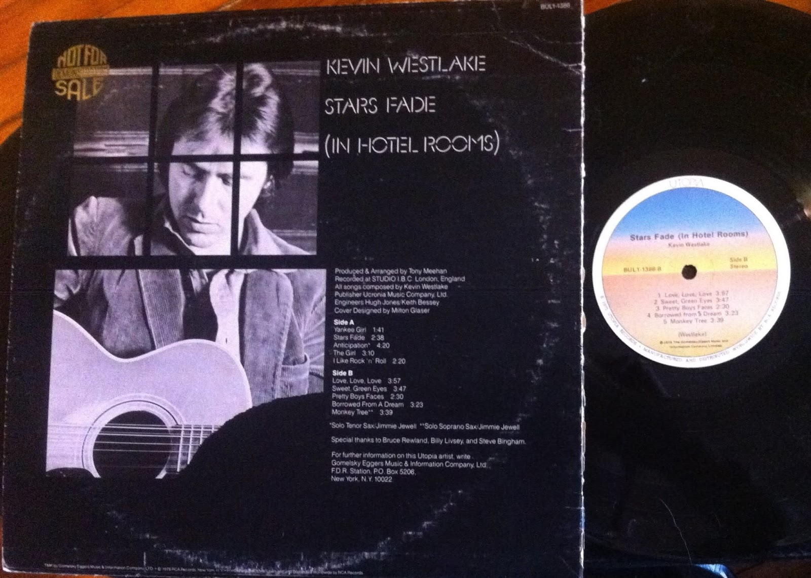Thrift Store Music: Kevin Westlake - Stars Fade (In Hotel Rooms)