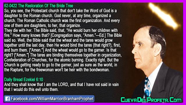 The end of Confederation of Churches - William Branham Quotes