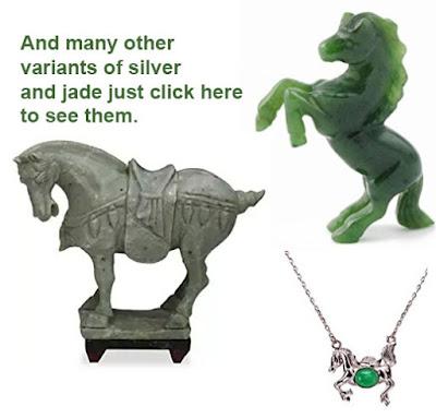 Jade Horse sculptur