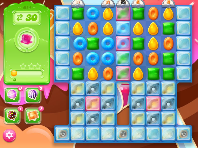 Candy Crush Jelly Saga level 614