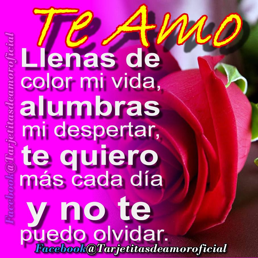 Tarjetas Y Frases De Amor Te Amo Con Todo Mi Alma