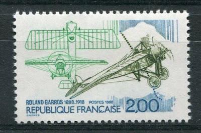 France 1988 Stamp Plane Monoplane
