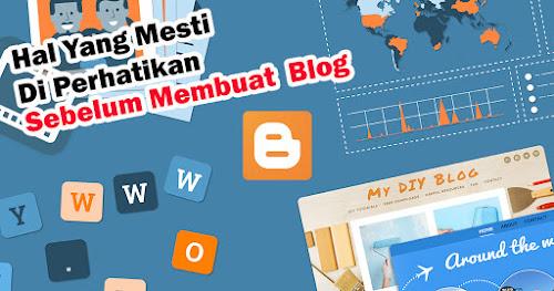 Hal yang Mesti diperhatikan sebelum membuat blog