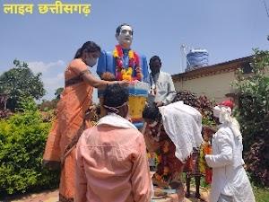 राजीव गांधी 30 वी पुन्यतिथि मौके पर अध्यक्ष स्मृति ठाकुर ने किया मास्क वितरण rajiv gandhi punyatithi kulhadi ghat