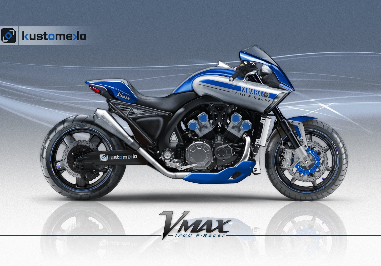 Racing Caf 232 Design Corner Yamaha Vmax 1700 F Racer By
