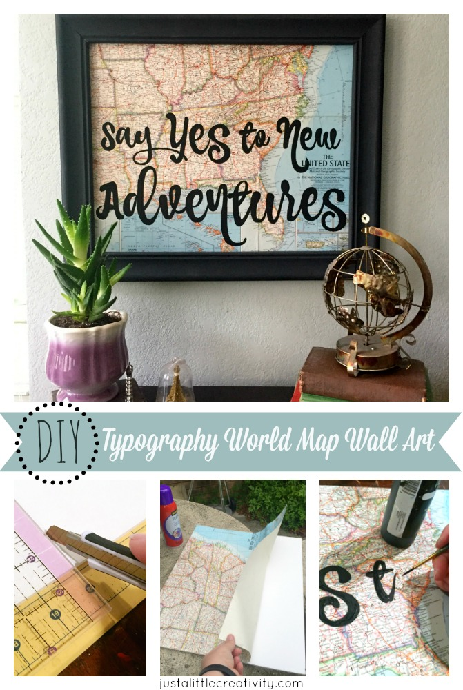 easy DIY typography wall art