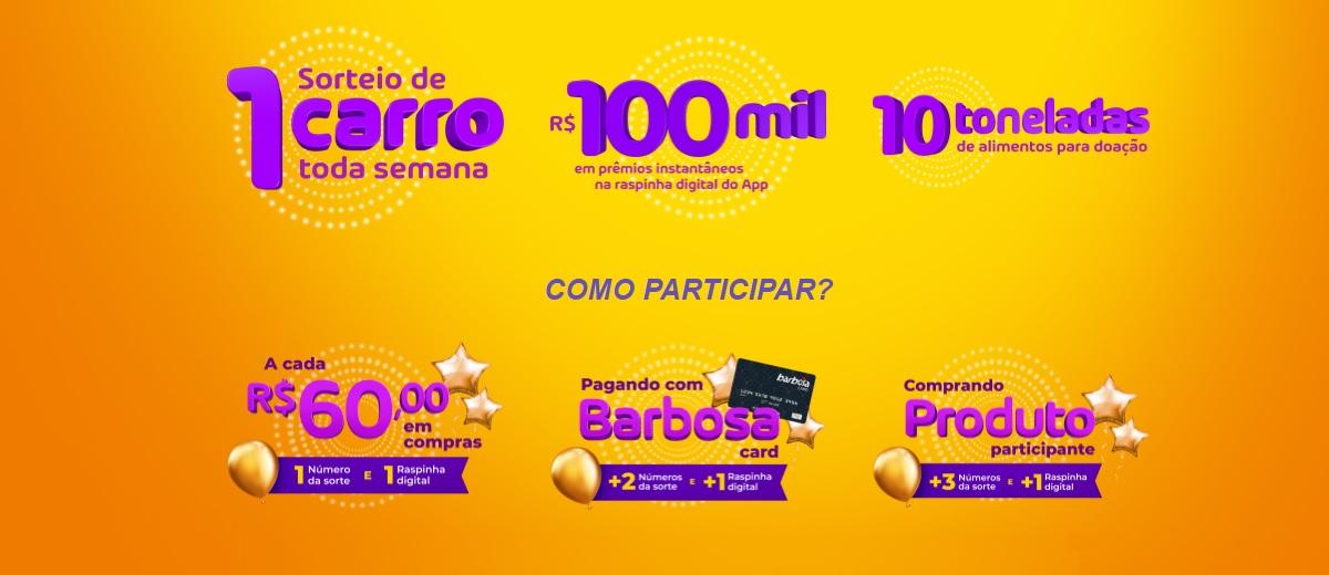Promoção Barbosa 10 Carros Novos