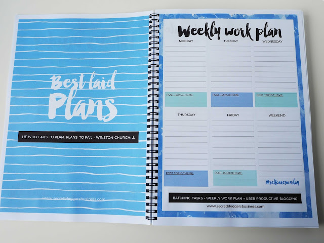 weekly plan for repeat activities
