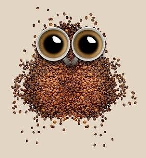 el cafe estimula y te deja como un buho a la noche