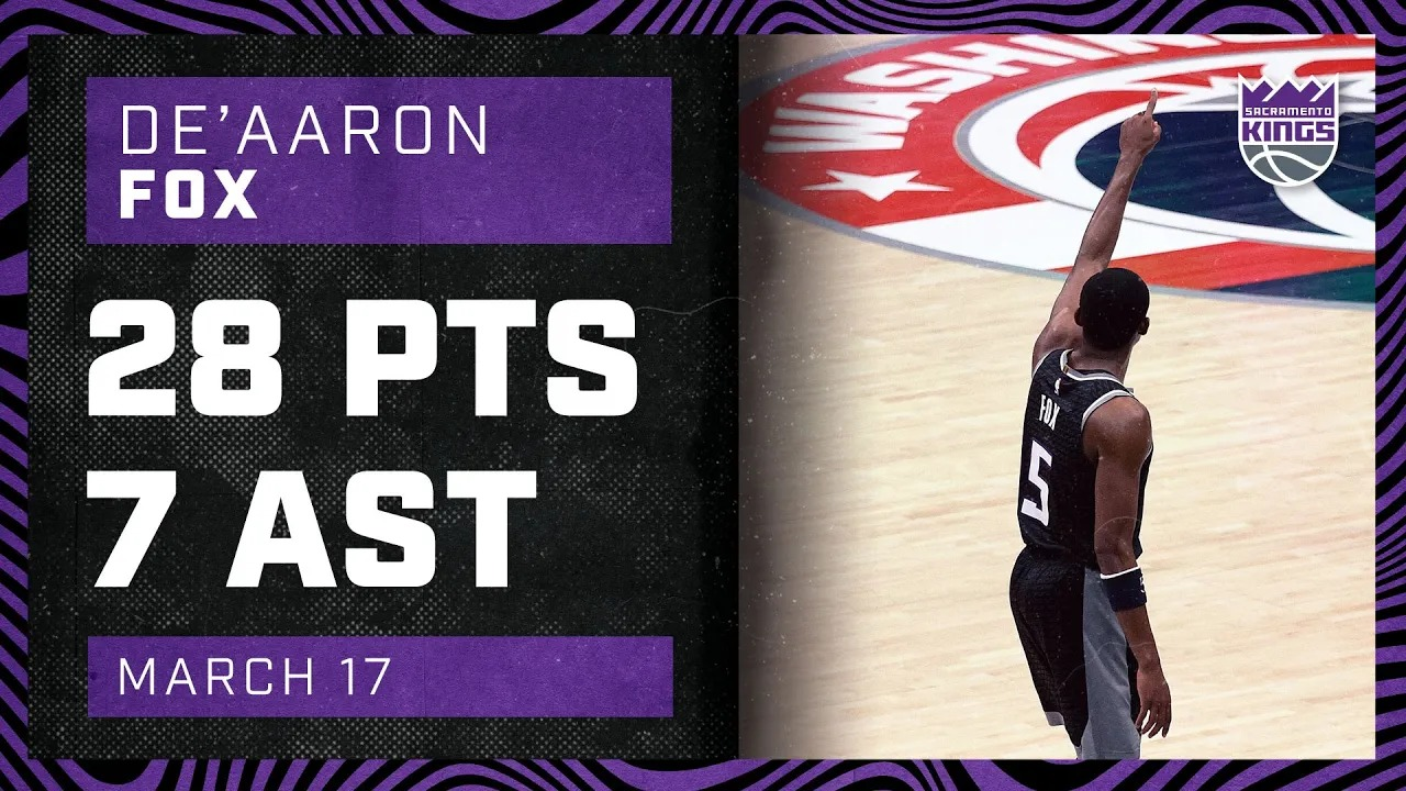 De'Aaron Fox 28pts 7ast vs WAS   March 17, 2021   2020-21 NBA Season
