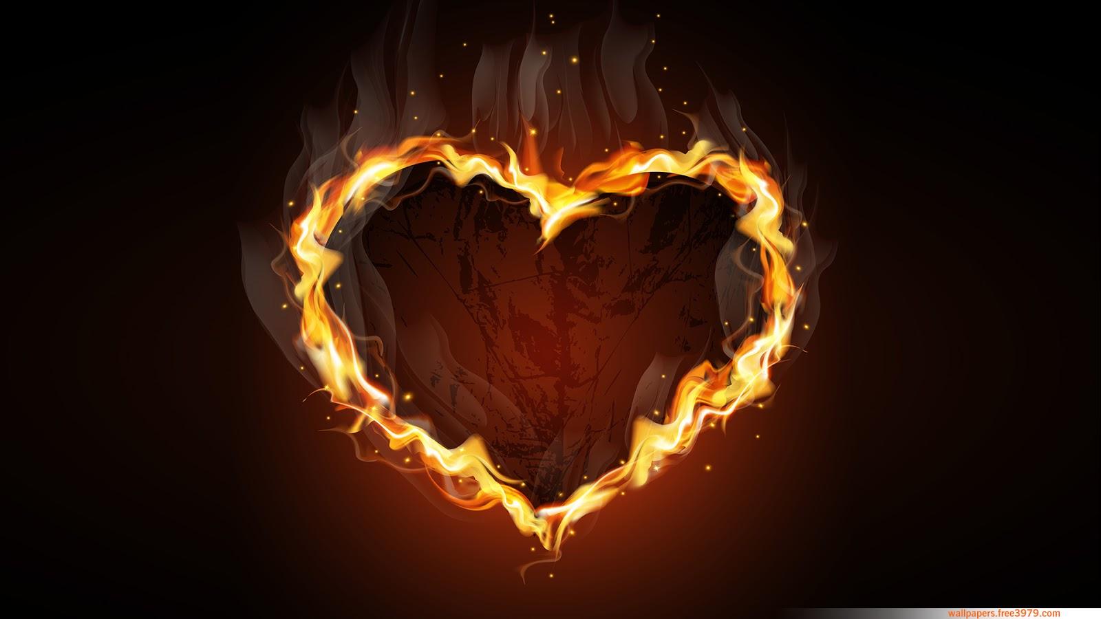 Heart Fire HD Wallpaper | Wallpapers-Wallpaper Free 3979