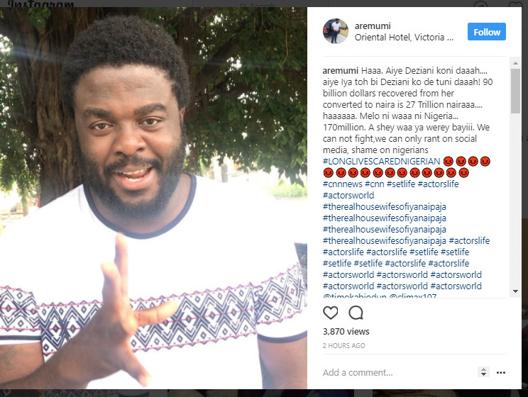 ''It Shall Not Be Well With Diezani'' - Actor Aremu Afolayan Curses Ex-Minister 1