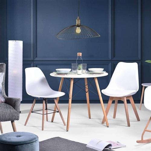 Nurnberg meja makan minimalis berbentuk bulat ukuran 90 cm
