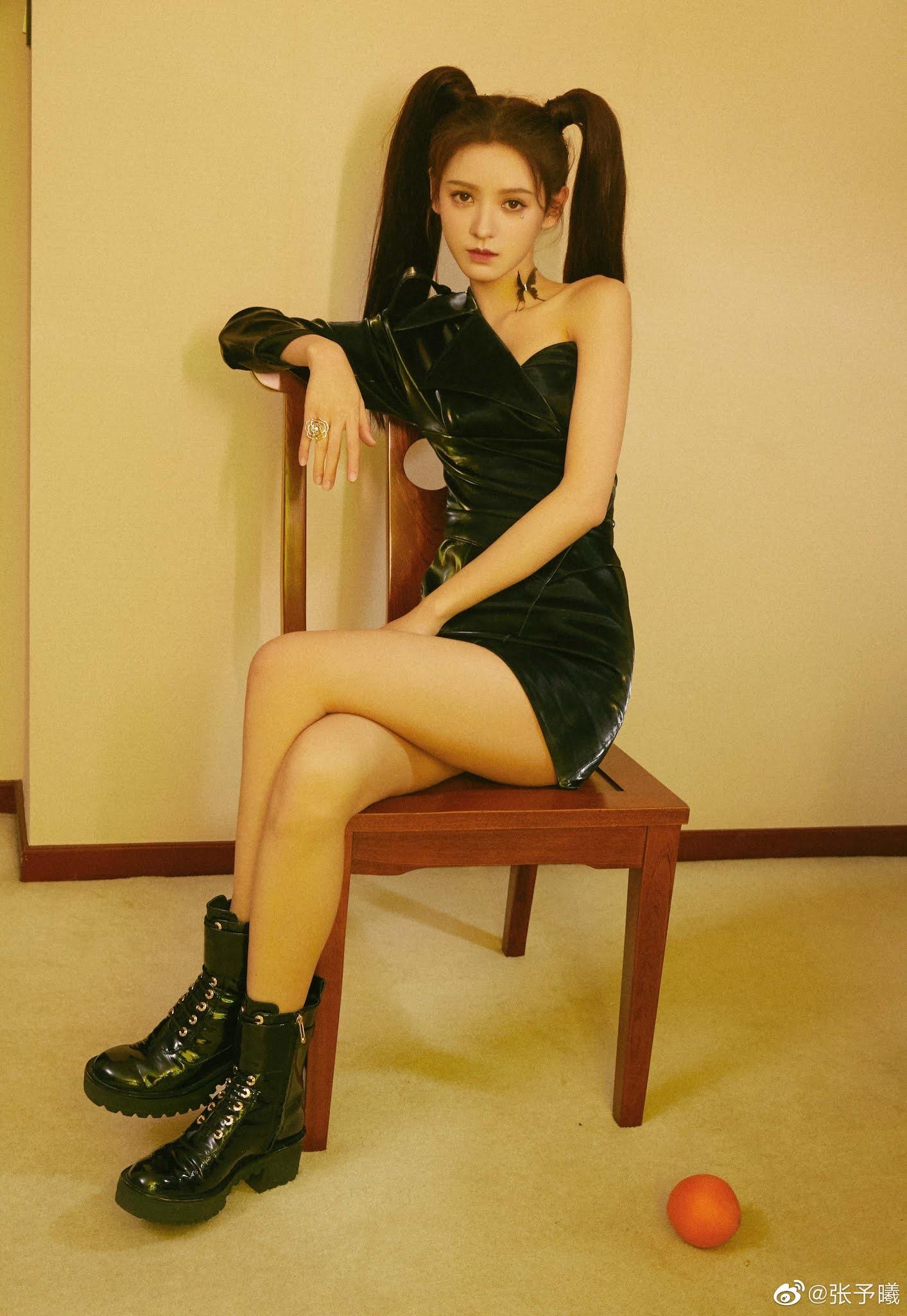 , Zhang Yuxi poses for photo shoot